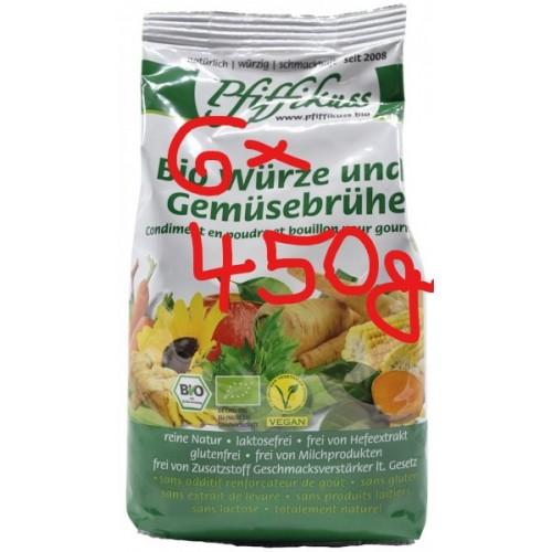 Bio-Würze u. Gemüsebrühe Pfiffikuss, 6x 450g Beutel