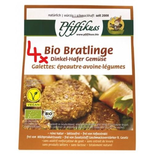 4er-Set: Bio Dinkel-Hafer-Gemüsebratlings-Mischung à 160g