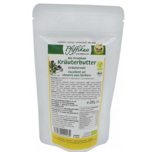 Kräuterbuttersalz bio Pfiffikuss, 200g Nachfüllbeutel