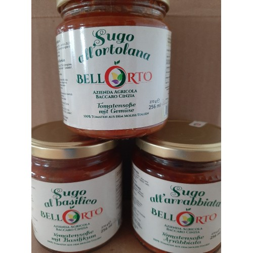 Tomatensoßen 3erSet - 100% Tomaten aus dem Molise/Italien