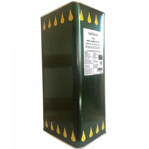 Bio-Olivenöl extra vergine aus Sizilien, Cooperative Valdibella, 5 Liter