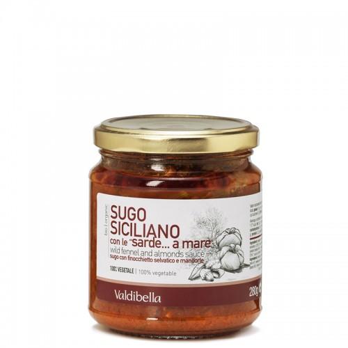 Bio-Sugo Siciliano mit Wildfenchel und Mandeln aus Sizilien, 280g