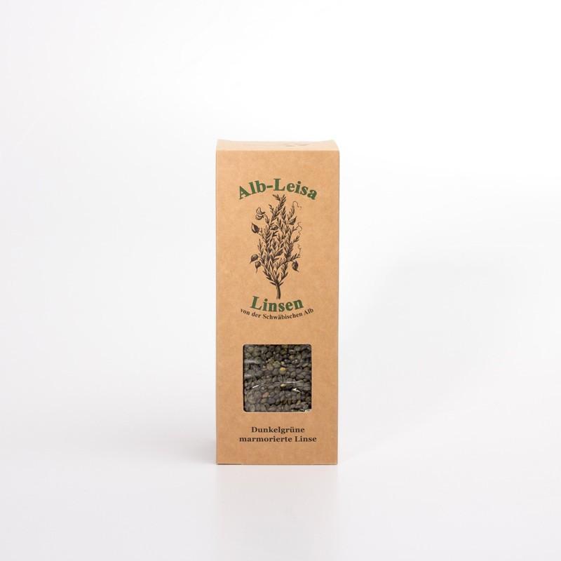 Bio Alblinsen dunkelgrün marmoriert,von der schwäbischen Alb, 500g